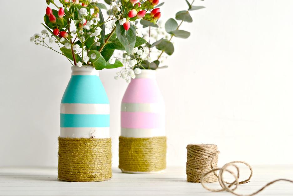 DIY: Upcycling – Alte Vasen für den Frühling neu gestalten. [Werbung]