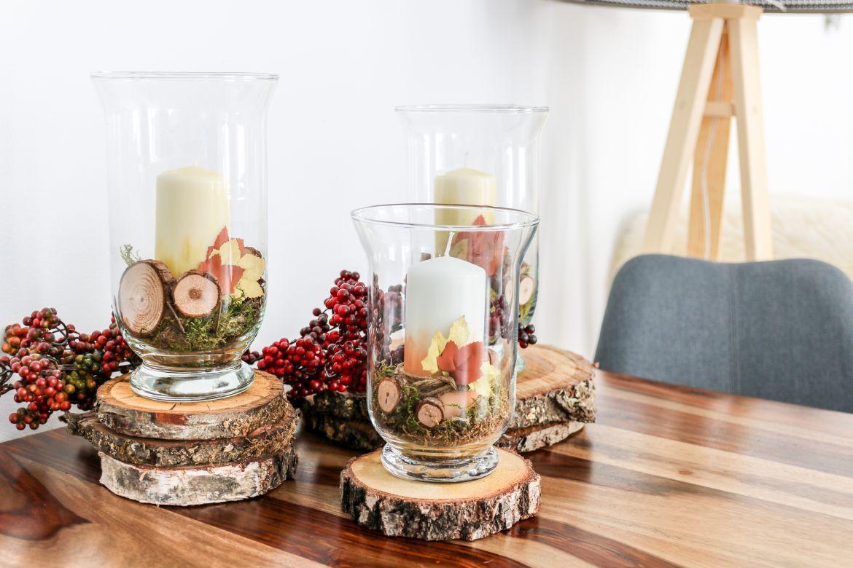 DIY: Herbstliche Kerzen als Deko fürs Wohnzimmer mit PilotPen. [Werbung]
